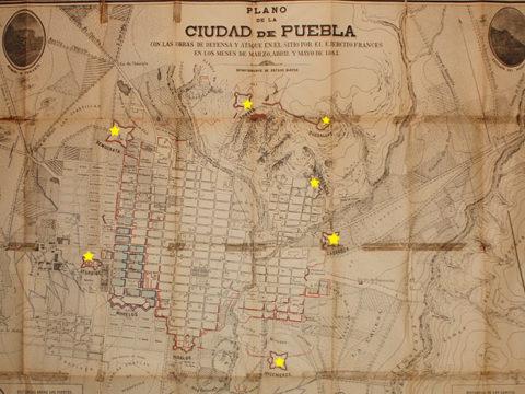 Fuertes durante el Sitio de Puebla
