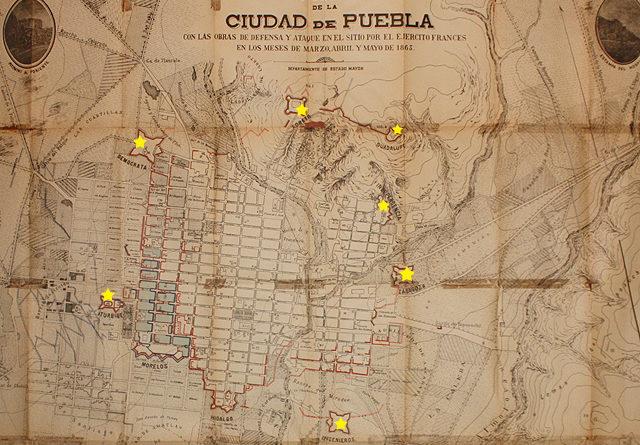 Fuertes y Plano de la Ciudad de Puebla