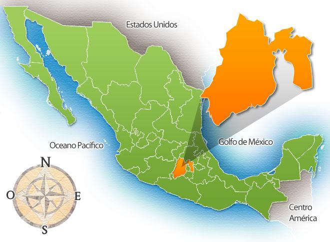 Estados De Mexico Mapa.Estado De Mexico De La Republica Mexicana Mexico Real