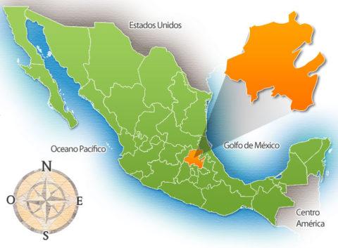 Estado de Hidalgo en la República Mexicana