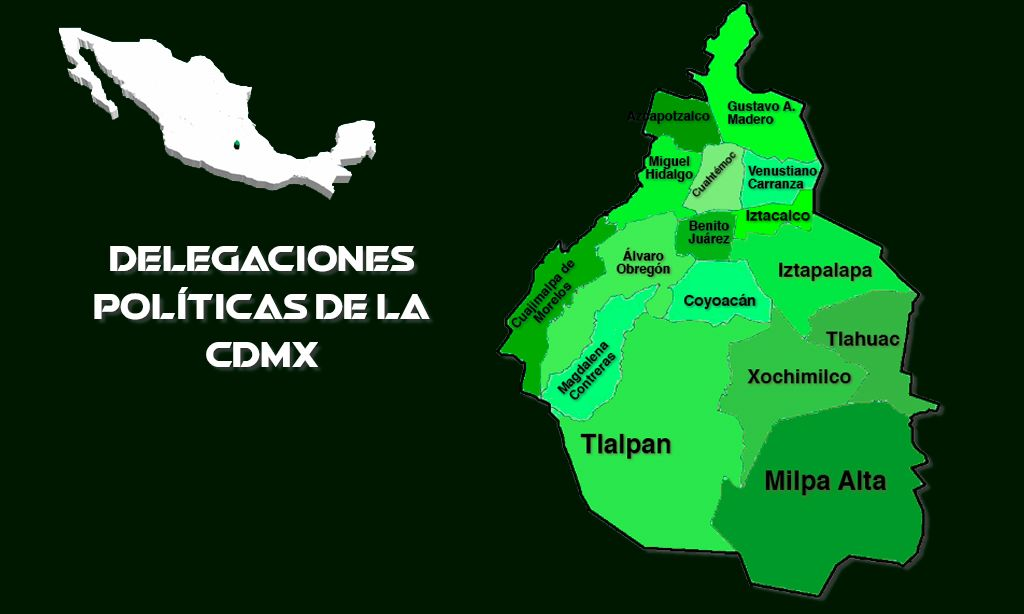 Delegaciones de la CDMX