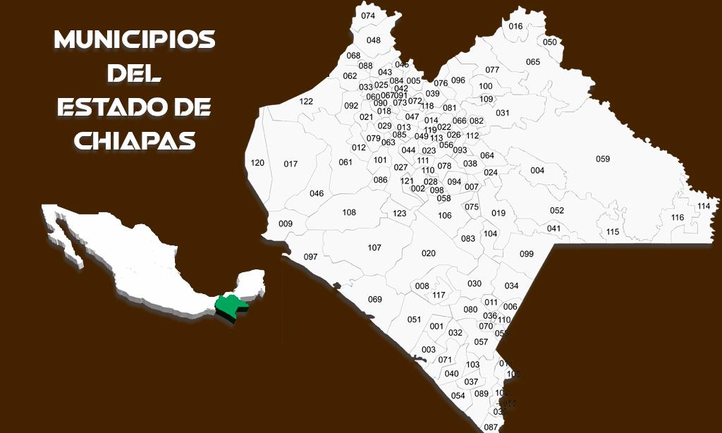 Municipios del Estado de Chiapas