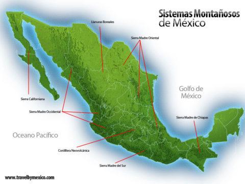 Sierras y Principales Sistemas Montañosos de México