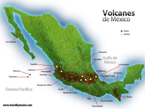 Volcanes activos dentro de la República Mexicana