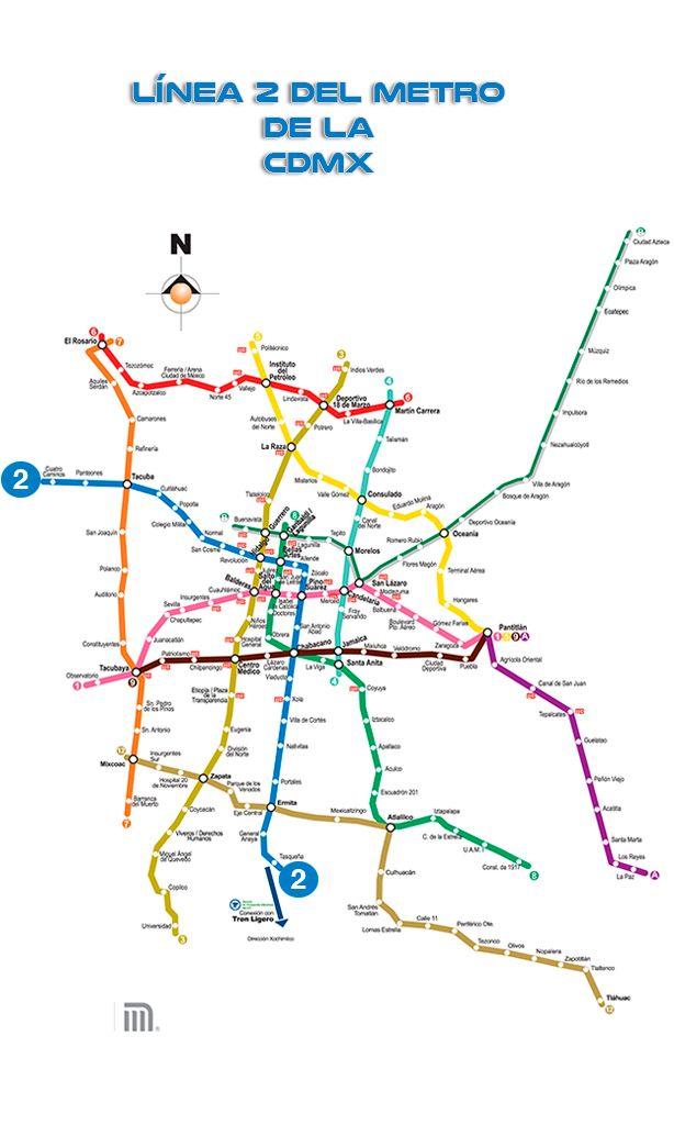 Línea 2 del Metro de la CDMX