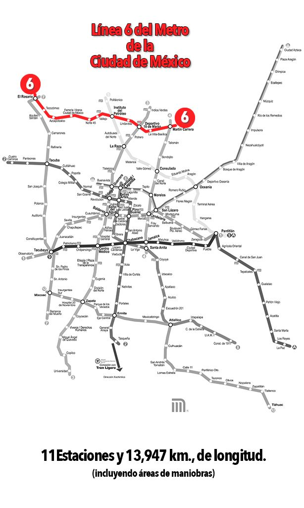 Línea 6 del Metro de la CDMX