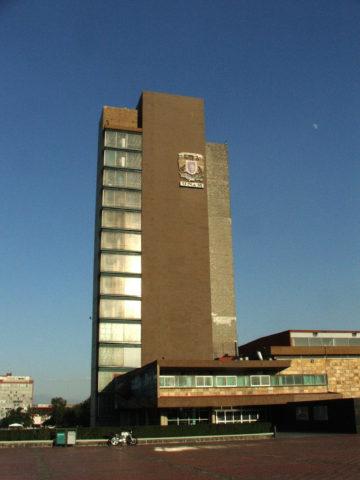 Torre de Rectoría de la UNAM.  Imagen por Antonio Damian