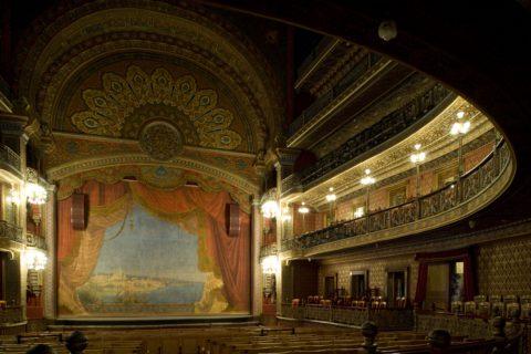 Interior del Teatro Juárez en Guanajuato
