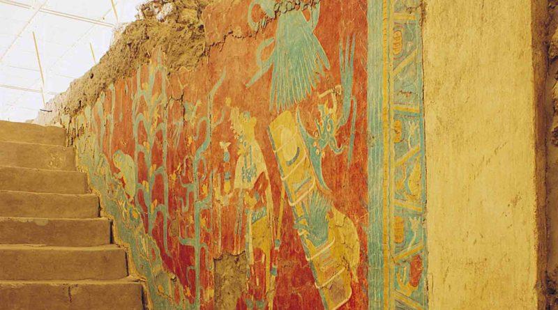 Zona arqueológica de Cacaxtla en Tlaxcala