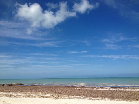 Isla Holbox en el Mar Caribe