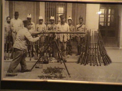 Fuerzas Federales preparadas en la Batalla de Zacatecas