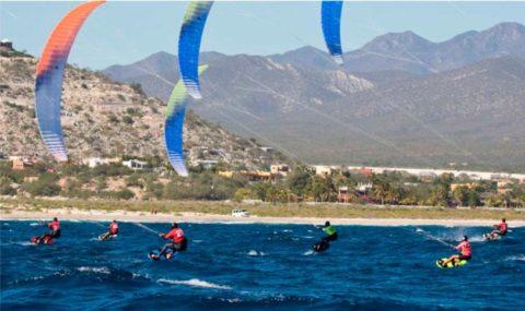 Enero en Los Cabos: Kiteboarding