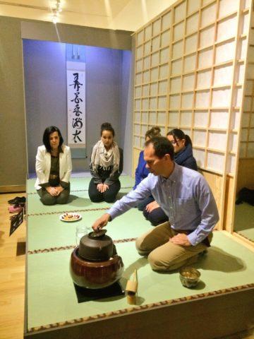 Ceremonia del Té en el FCG en febrero.