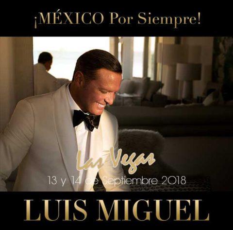 """Luis Miguel en Las Vegas al grito de """"¡Viva México!"""""""