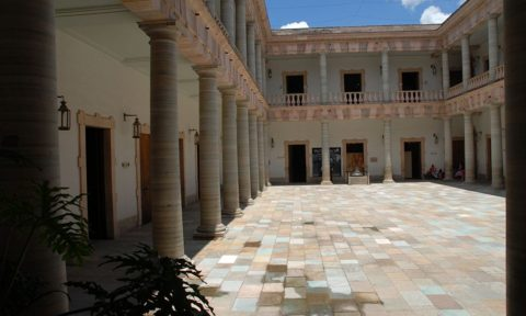 Interior de la Alhóndiga de Granaditas a la llegada a Guanajuato (actualmente).