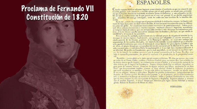 Proclama de la Constitución de 1820