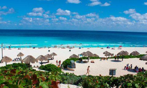 Las playas de Cancún.