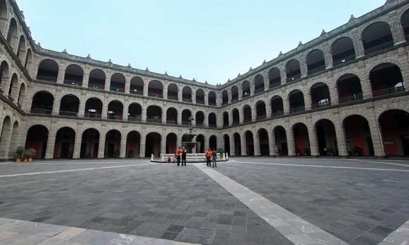Patio central del Palacio nacional
